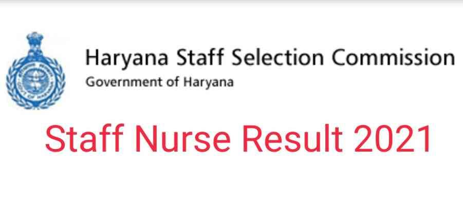 Staff Nurse Result 2021 HSSC